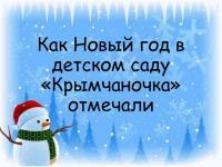 """Как Новый год в саду """"Крымчаночка"""" отмечали"""